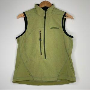 Arc'teryx Women's Lime Green Polartec Vest Medium